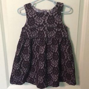 Cherokee 3t purple lace fancy holiday dress
